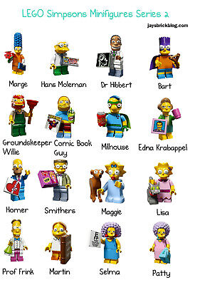 AU85 • Buy Lego Simpsons Series 2 71009 - COMPLETE SET - 16 Minifigures / Minifigs - AS NEW