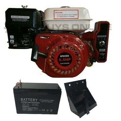 AU290.99 • Buy Petrol Engine 6.5 HP Electric Start OHV Motor With Battery & Cradle