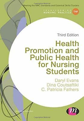 Health Promotion And Public Health For Nursing Students (Tran New Paperback Book • 18.92£