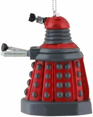 Kurt Adler 3.75-inch Doctor Who Red Dalek Blow Mold Plastic Ornament NEW • 8.38£