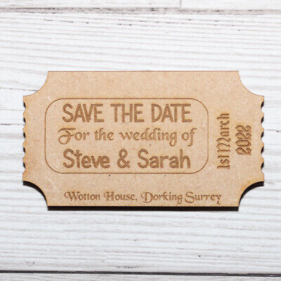 AU27.80 • Buy Personalised Save The Date Magnets Various Designs Boarding Theatre Calender