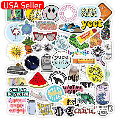 $5.95 • Buy 50 VSCO Stickers For Hydro Flask Laptop Girl Decals Skateboard Suitcase Sticker