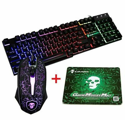 AU45.99 • Buy Rainbow Backlit Keyboard And Mouse Sets For PS4 PS3 Xbox One PC T6 Gaming Office