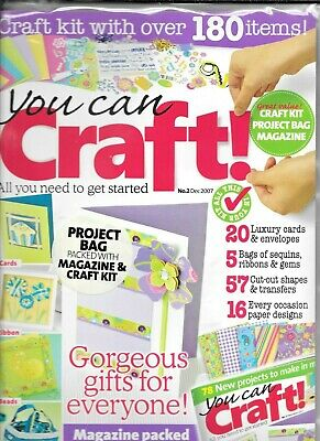 YOU CAN CRAFT! Issue 2 Dec 2007 Craft Kit, Magazine & Project Bag • 3.50£