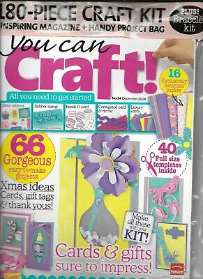 YOU CAN CRAFT! Issue 14 Dec 2008 Craft Kit, Magazine & Project Bag • 3.50£