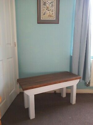 Wooden Bench Rustic  Kitchen Hallway  Porch Solid Wood Handmade • 55£