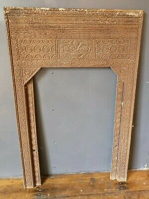Antique Victorian Decorative Cast Iron Fireplace Insert Thomas Jekyll Style • 100£