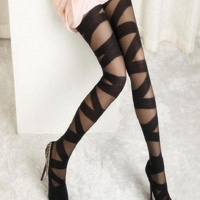 Quality For Ladies Stockings Traceless Ripped Cut-Out Bandage Sexy Stocking FA • 2.41£
