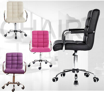 AU129.66 • Buy Adjustable Swivel Office Chair Comfort PU Leather Pad High-Back Computer Desk AU