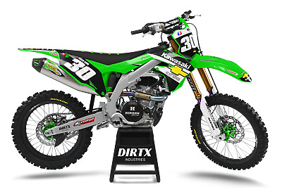 $159.95 • Buy New Dirtx Industries Complete Graphics Factory Chevy Kawasaki Kx 85 125 250 450