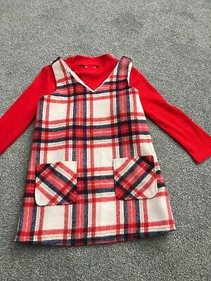 F&F Girls Red Check Dress And Top 2-3 Years • 2.08£
