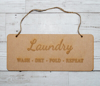 Wooden Laundry Sign Plaque • 4.99£