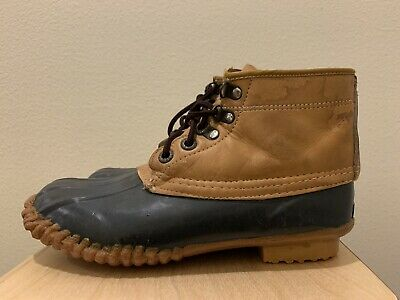 Vintage Womens Chris Craft Duck Boots High Top Footwear Leather Shoes Size 7 • 21.84£