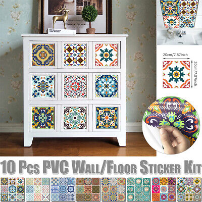 Mosaic Self Adhesive Stick On PVC Wall Tile Stickers Bathroom Kitchen Home Decor • 7.49£