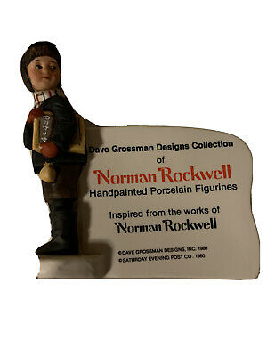 $ CDN1.37 • Buy Vintage Norman Rockwell Figurine, Collectable Sign 1980 Dave Grossman