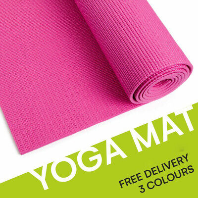 AU16.95 • Buy EVA Thick 6mm/4mm Yoga Mat Pad Nonslip Exercise Fitness Pilate Gym 1730X610mm