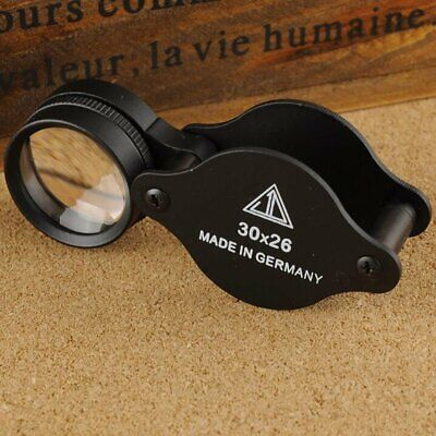 Jewellers Magnifying Loupe 30 X 26mm Glass Jewellery Antiques Magnifier Hallmark • 6.59£