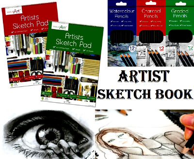 A3 A4 Sketch Pad Book White Paper Artist Sketching Drawing Doodling Art Craft UK • 3.99£