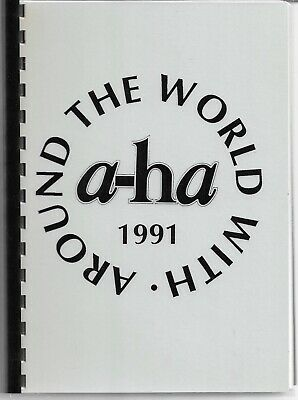 A-HA - Around The World With A-ha 1991 - Rare 1991 Tour Itinerary Book • 79.99£