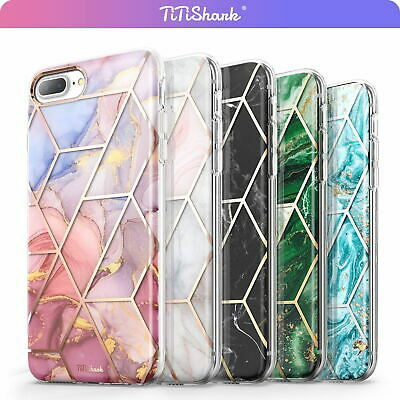 AU10.99 • Buy TiTiShark For IPhone SE 8 7 Plus 6s Case Clear Marble Fashion Shockproof Cover