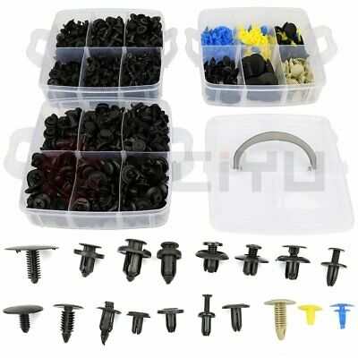 $18.62 • Buy 650 Pcs Boxed Car Bumper Door Trim Fastener Set Repair Parts Plastics Clips USA