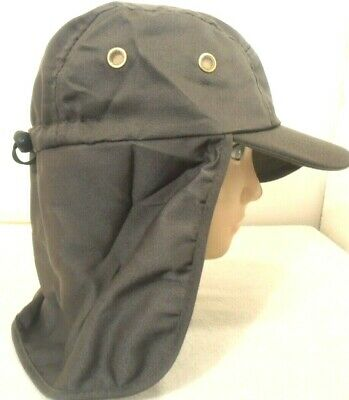 $7.95 • Buy Neck Cover Sun Protection Hat Olive Green Fishing Hunting Walking Back Flap Cap