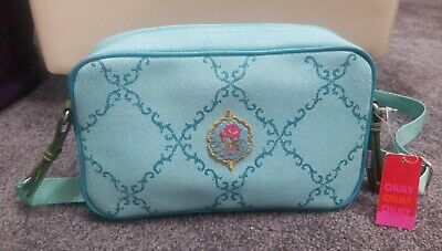 £14.54 • Buy Oilily NWT Carry All Shoulder Crossbody Strap Bag Purse Floral Blue Embroidered