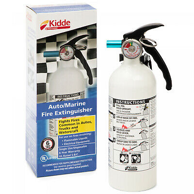 $24.71 • Buy Kidde Marine Fire Extinguisher 5-B:C 3-lb Car Boat Home Office Safety Disposable