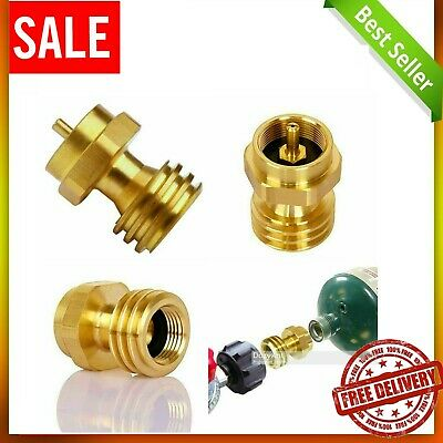 $11.41 • Buy Propane Tank Adapter Hook Up 1LB Small Bottle To Gas Grill BBQ 100% Solid Brass