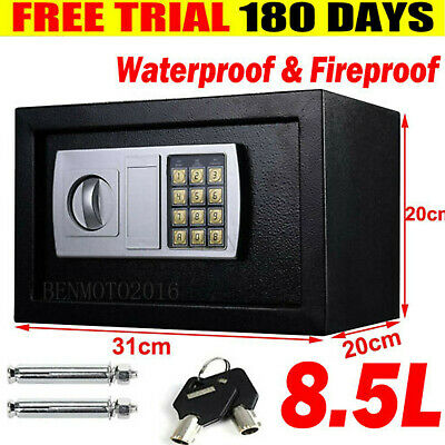 8.5l Secure Digital Steel Safe Electronic Security Home Office Money Safety Box • 36.08£