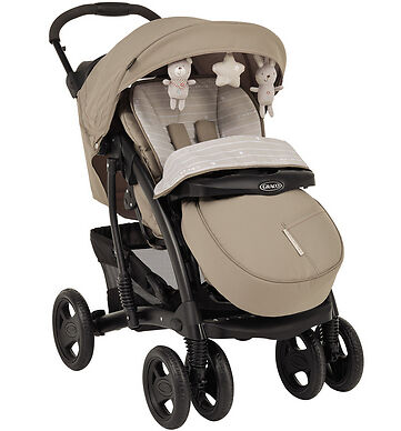 Graco Quattro Tour Deluxe Bear And Friends Travel System Single Seat Stroller • 40£