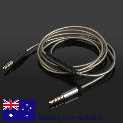 AU34.50 • Buy Silver Coated Audio Cable With Mic For Yamaha HPH-Pro500 HPH-Pro400 Headphones