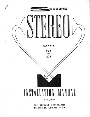 $3.99 • Buy Seeburg Stereo Model 220 & 222 (18 Pages)