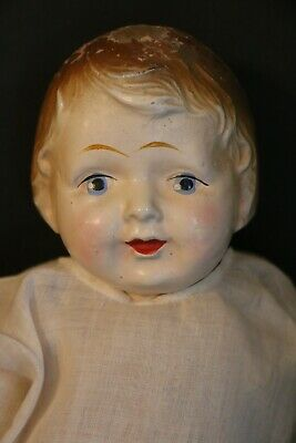 $7.99 • Buy 1920's ADAM Composition Doll, 18 1/2 IN, Molded Hair, Painted Features Antique
