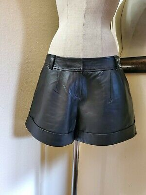 $64.99 • Buy Anthropologie Trouve 100% Leather Shorts Size 8
