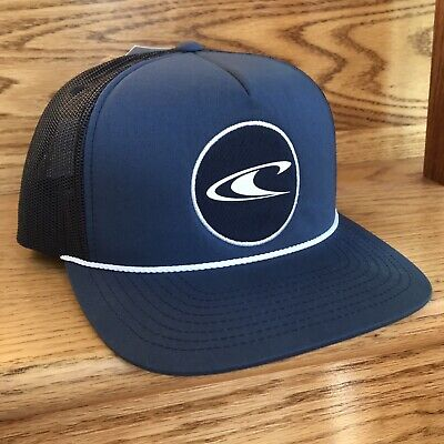 $22.99 • Buy New O'NEILL TRUCKER HAT Navy Blue Snapback White Rope Surf Skateboard Men/women
