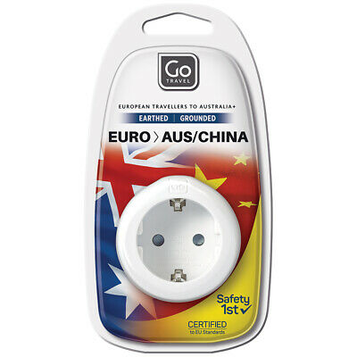 AU15 • Buy Go Travel EUROPE To AU/NZ/CHINA Adapter 3 Pin Wall Power Plug Outlet Socket