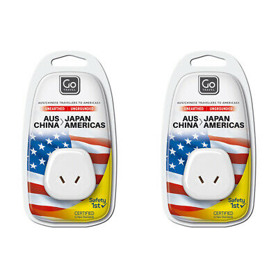AU19.95 • Buy 2x Go Travel AU/NZ To USA/JAPAN Adapter 2 Pin Wall Power Outlet Plug Socket