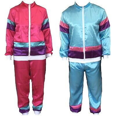Mens / Womens 1980s 80s Shell Suit Tracksuit Set Scouser Fancy Dress Costume • 13.99£