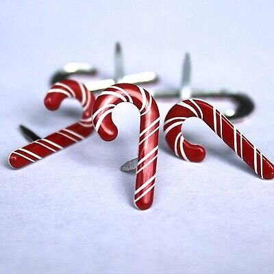 $2.25 • Buy CANDY CANE BRADS Peppermint Christmas Holiday Scrapbooking Card Making Stamping