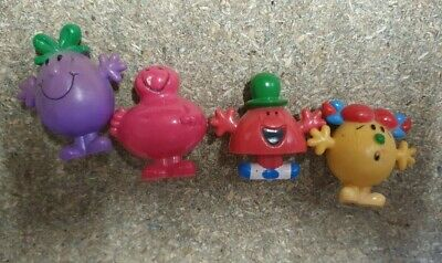 4 Mr Men And Little Miss Pencil Toppers - Retro • 3.50£