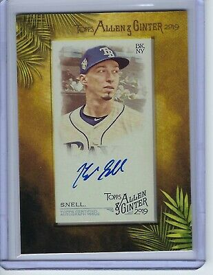 $5.02 • Buy 2019 Topps Allen & Ginter Blake Snell Autograph Auto