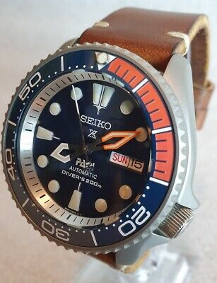 $ CDN697.79 • Buy SEIKO SKX007 Mod  Les Oranges Bleues  NH36A Leather Strap New Condition