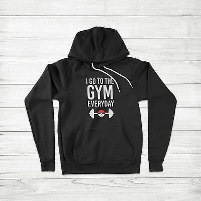 $ CDN52.91 • Buy I Go To The Gym Everyday Fun Cute Pokemon Workout Gamer Unisex Hoodie Sweater
