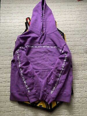 $ CDN26.56 • Buy Supreme Text Stripe Hoodie Violet Size Small. 100% Authentic!! Receipt Proof!