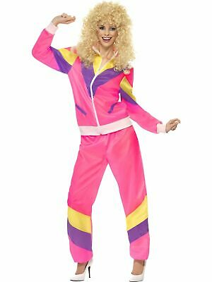 AU40 • Buy Womens 80s Height Fashion Scouser Tracksuit Shell Suit Costume Fancy Dress