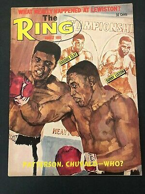$14.99 • Buy Vtg The Ring Magazine Muhammad Ali Cassius Clay Boxing August 1965