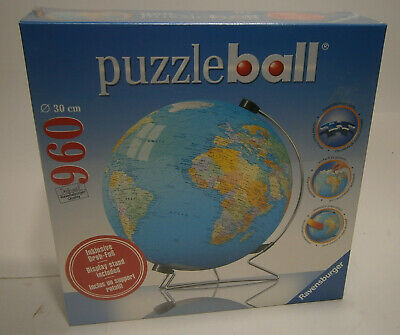$39.99 • Buy Ravensburger Puzzle Ball Globe With Display Stand 960 Pieces SEALED BRAND NEW