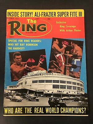 $14.99 • Buy Vtg The Ring Magazine Muhammad Ali Cassius Clay Boxing December 1975