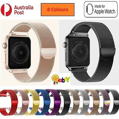 AU9.99 • Buy For Apple Watch Series 5 4 3 2 1 Stainless Steel Milanese Strap Band 44 42 40 38